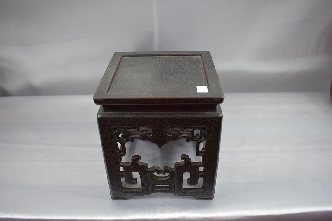 Antique Chinese Hardwood Stand - 5