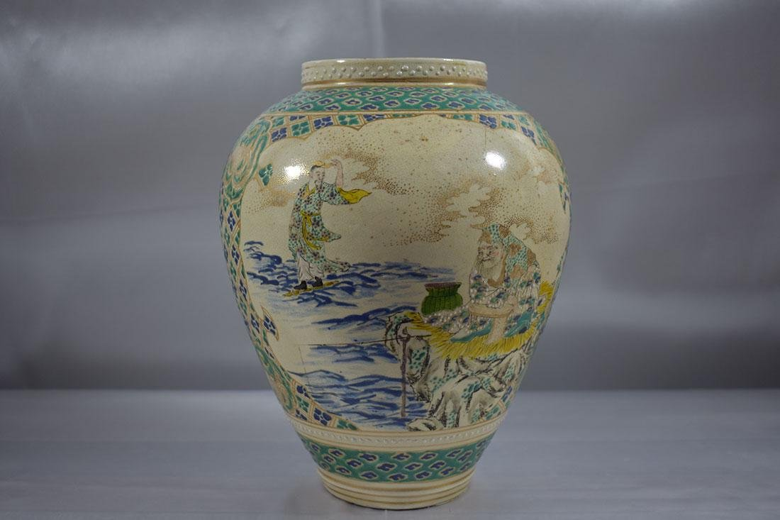 Antique Japanese Satsuma Vase - 4