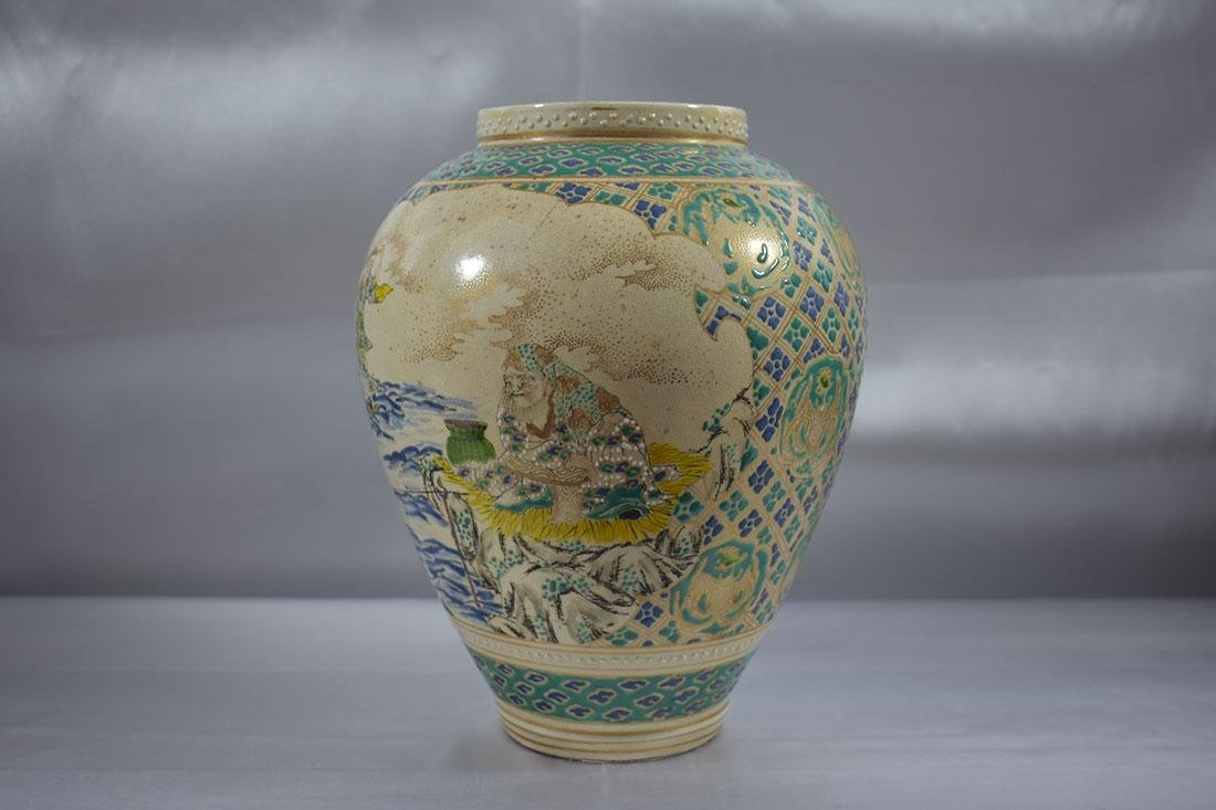 Antique Japanese Satsuma Vase - 5