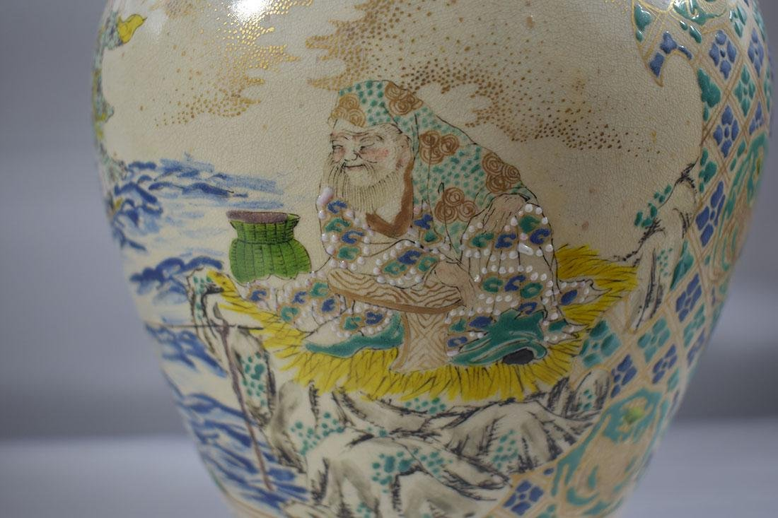 Antique Japanese Satsuma Vase - 6