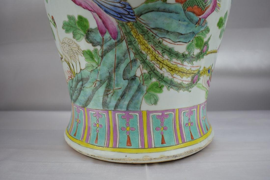 ANtique Chinese Famille Rose Jar/Vase with Figures - 2