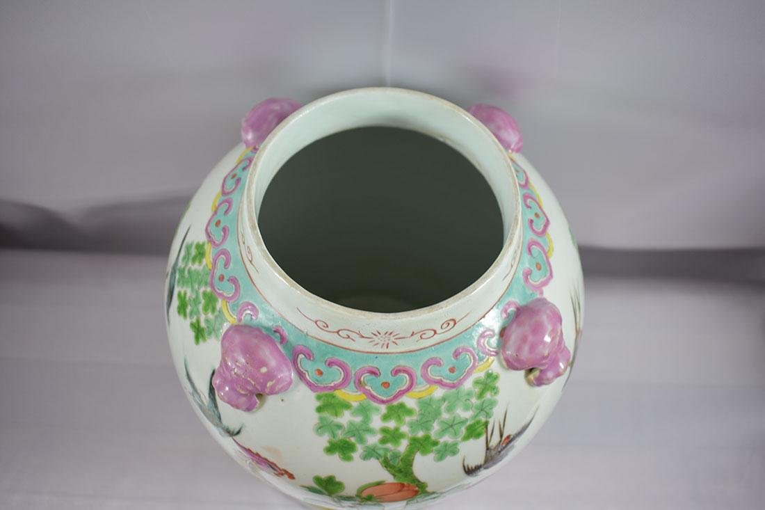 ANtique Chinese Famille Rose Jar/Vase with Figures - 5