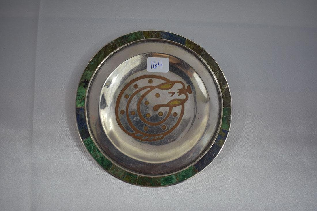Mexican Tri-Metal Silver Tray