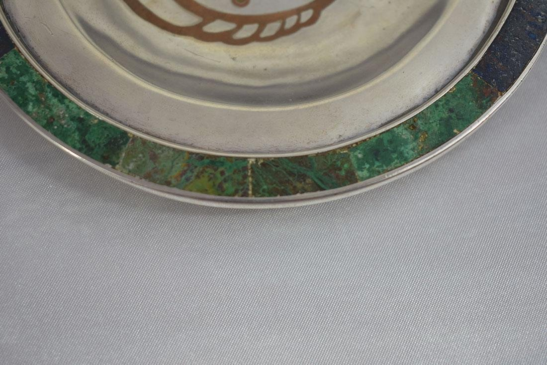 Mexican Tri-Metal Silver Tray - 2