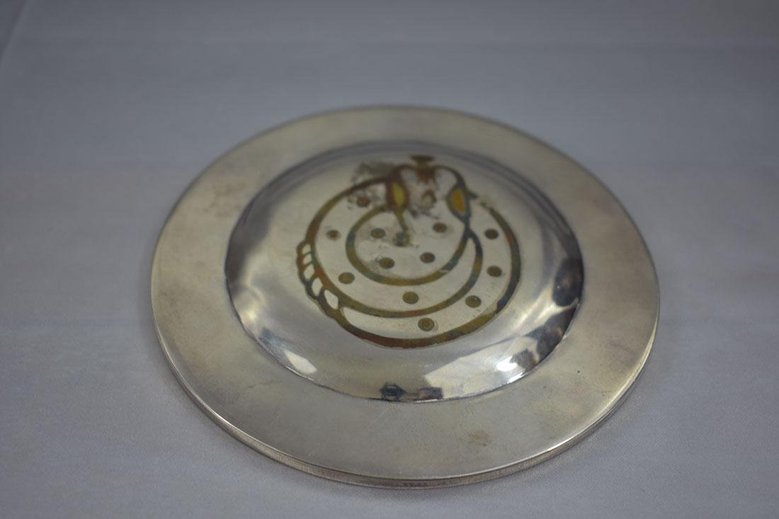 Mexican Tri-Metal Silver Tray - 5