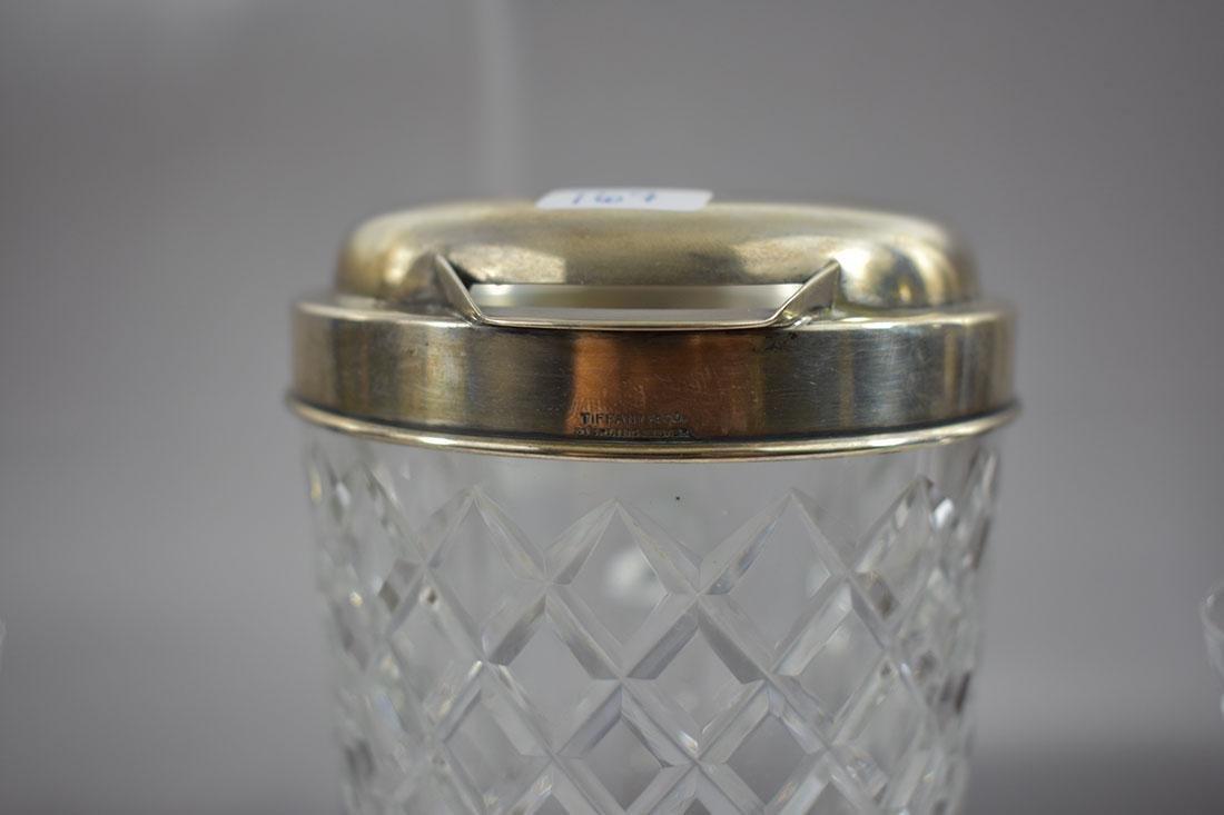 3PC Tiffany & Co Sterling Mtd Pitcher & Glass - 4