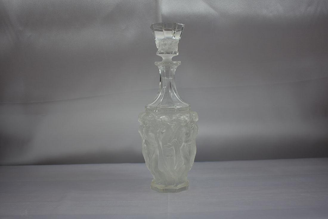 Signed Glass Nude Decanter