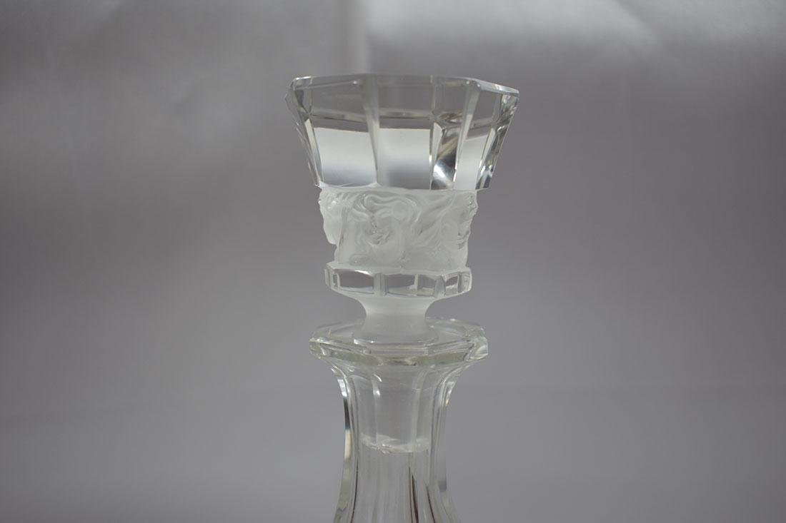 Signed Glass Nude Decanter - 3