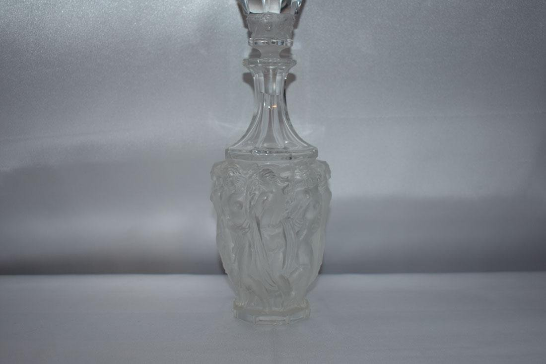 Signed Glass Nude Decanter - 9
