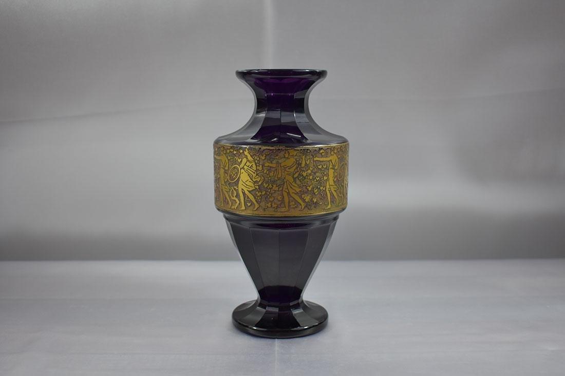 """Antique Moser Glass Vase signed """"Carlsbad"""""""