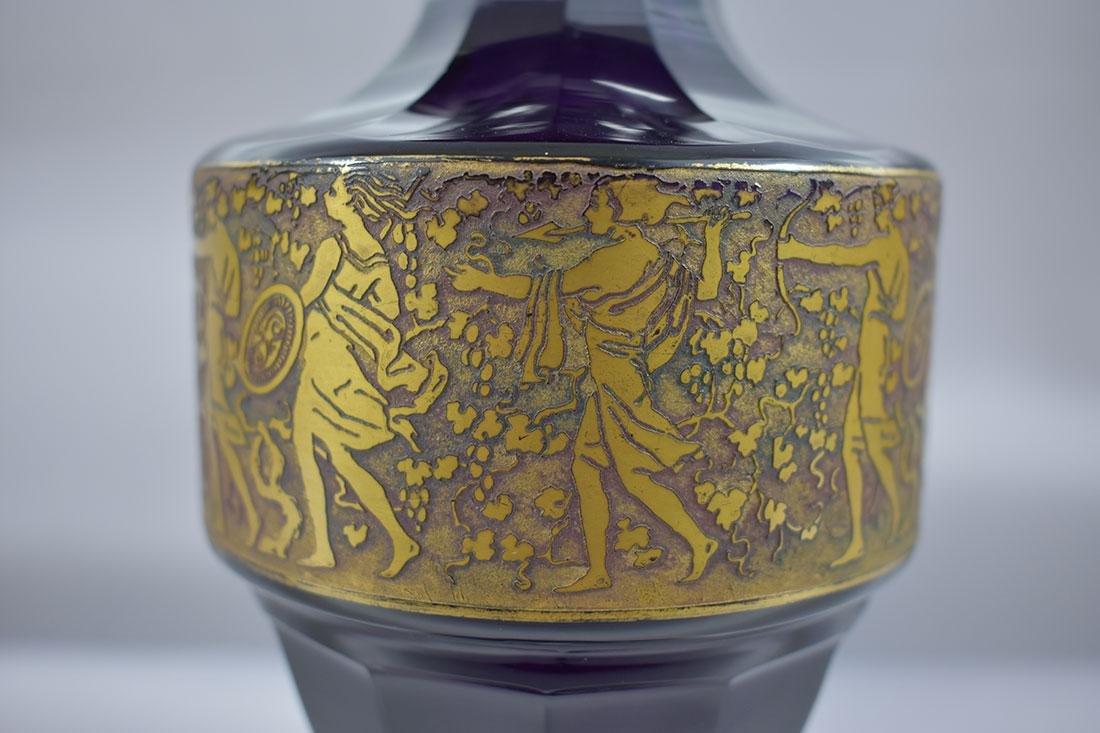 """Antique Moser Glass Vase signed """"Carlsbad"""" - 2"""