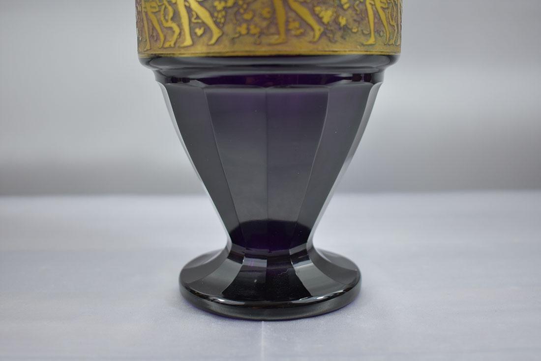 """Antique Moser Glass Vase signed """"Carlsbad"""" - 3"""