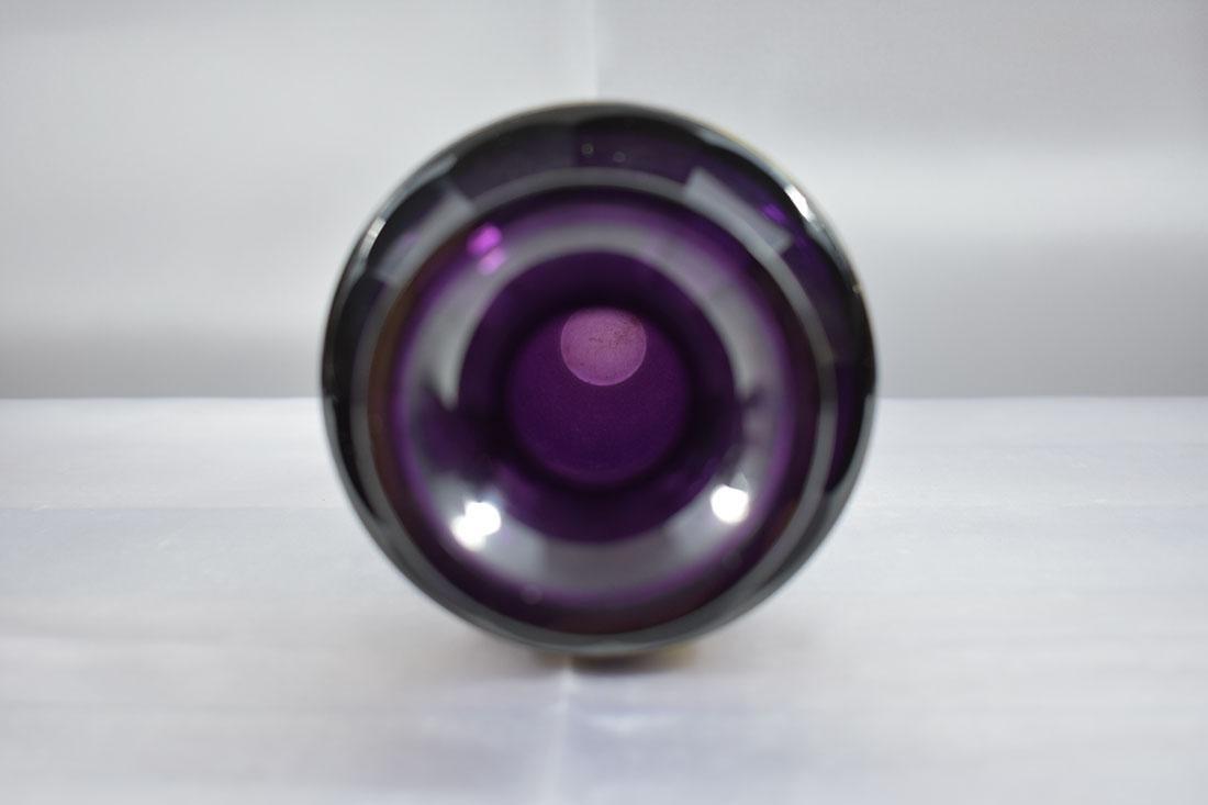 """Antique Moser Glass Vase signed """"Carlsbad"""" - 4"""