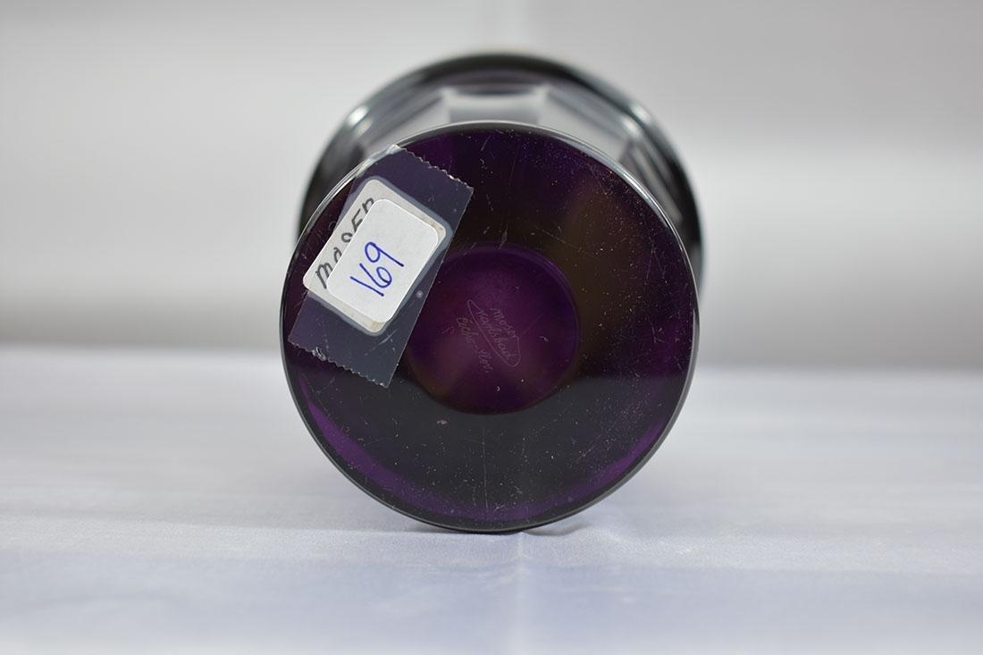 """Antique Moser Glass Vase signed """"Carlsbad"""" - 6"""