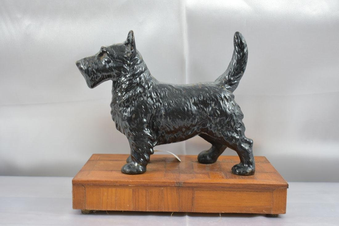 Vintage Hubley Scottie Dog Door Stop