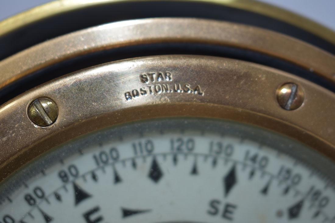 John Bliss & Company Starfinder Bronze Compass - 6