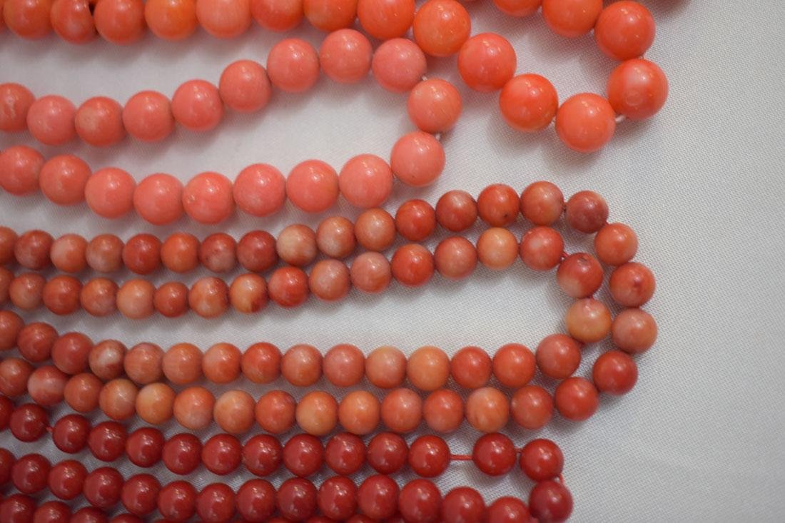 Lot of 13 Chinese Coral Necklaces - 3