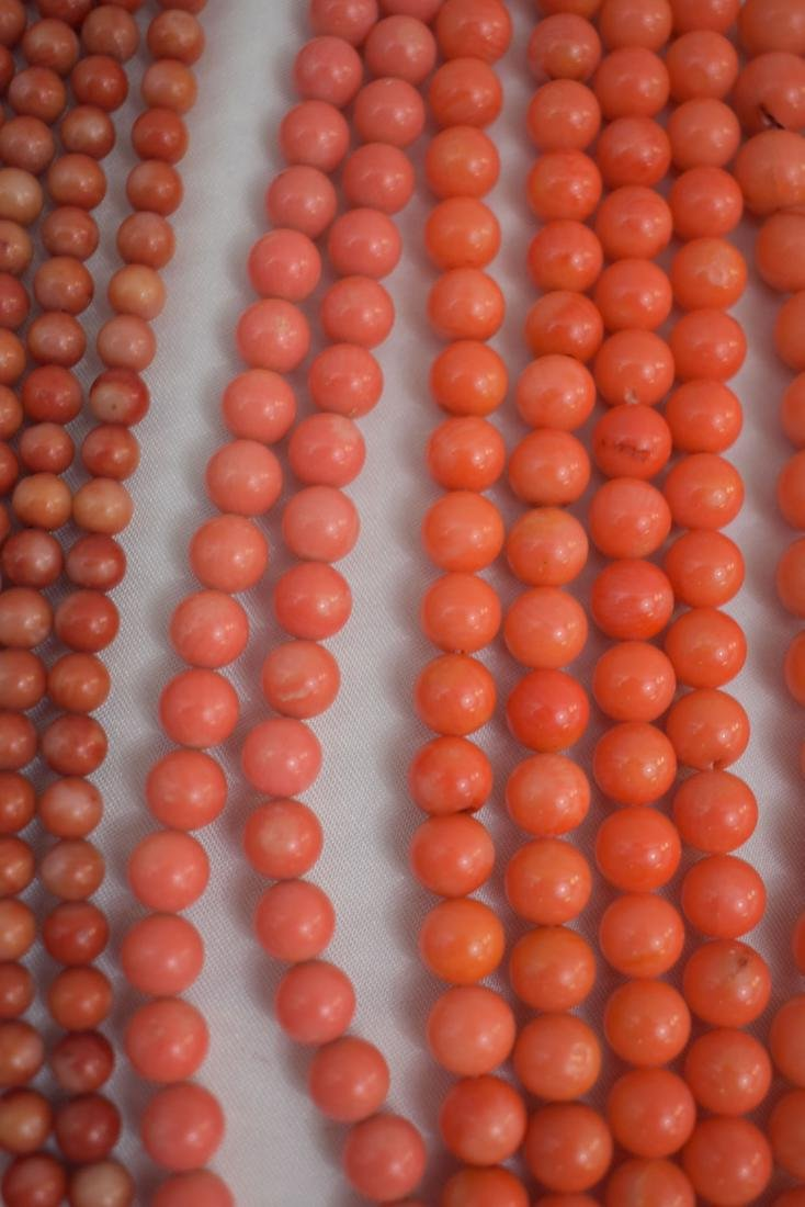 Lot of 13 Chinese Coral Necklaces - 4
