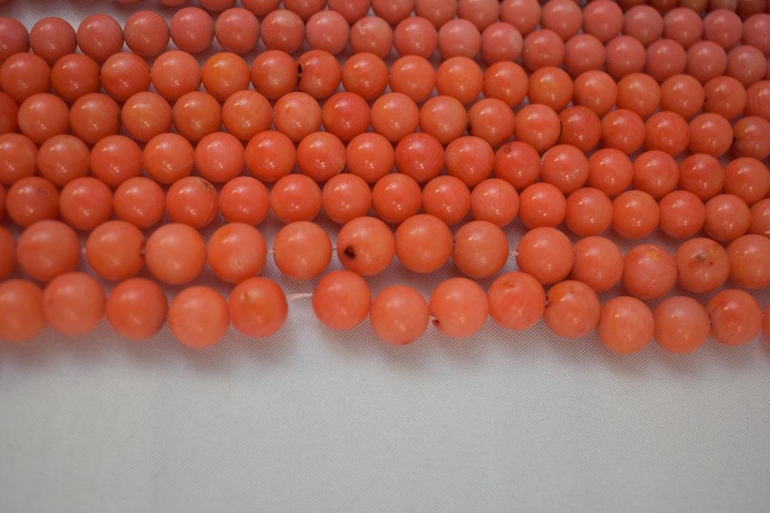 Lot of 13 Chinese Coral Necklaces - 6