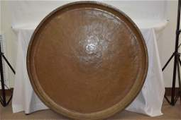 Large Hand Hammered Copper Tray