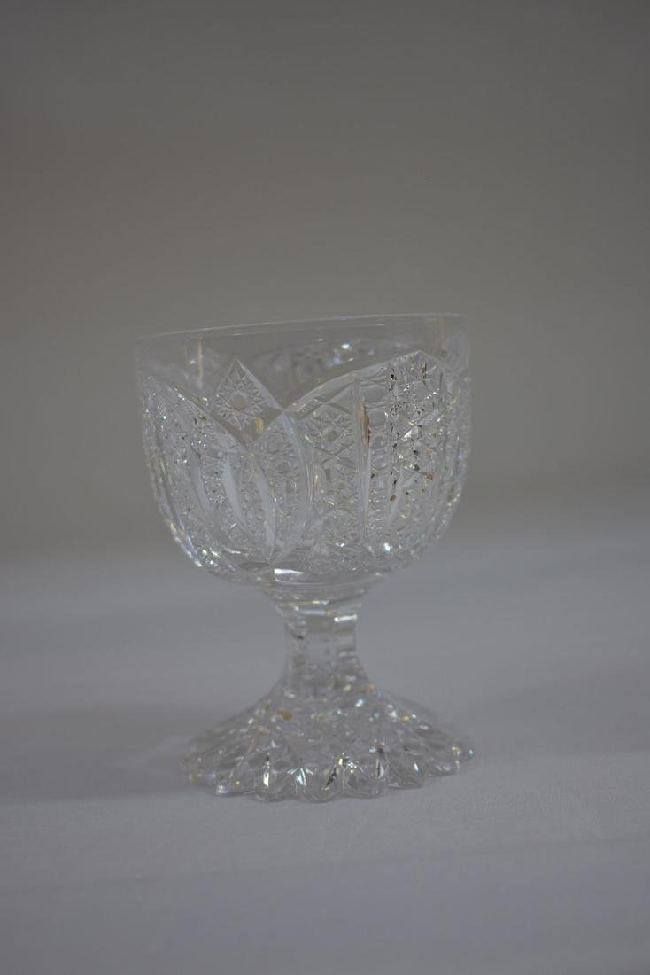 3 Cut Glass Goblets Signed Libbey - 4
