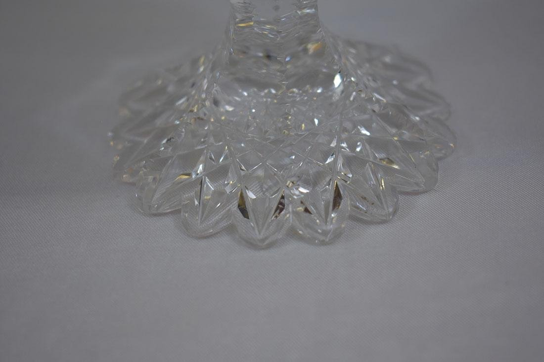 3 Cut Glass Goblets Signed Libbey - 5