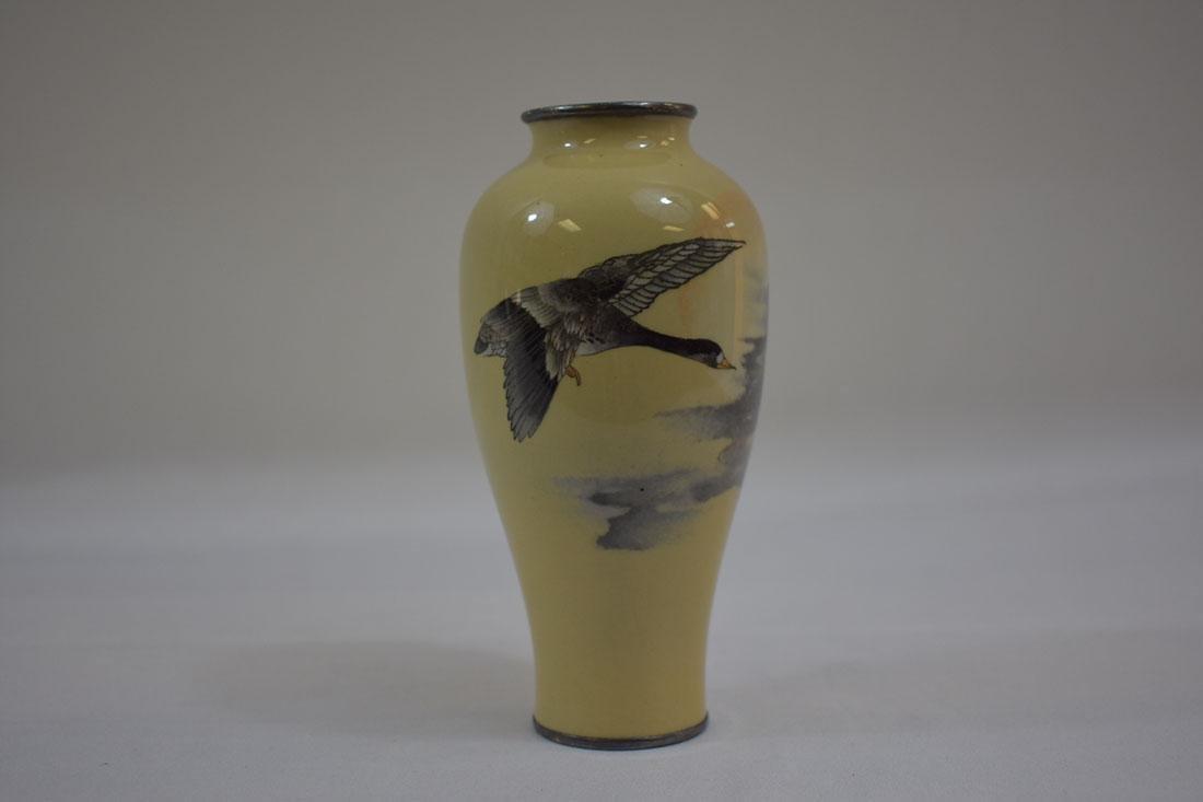 Fine Antique Japanese Cloisonne Vase Signed