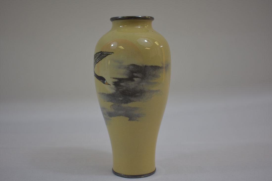 Fine Antique Japanese Cloisonne Vase Signed - 2