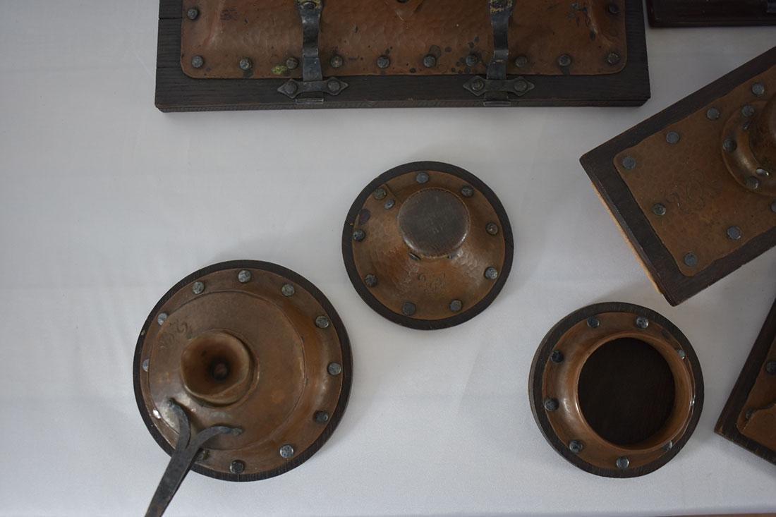 Complete Arts & Crafts 16 PC Desk Set Copper & Silver - 4