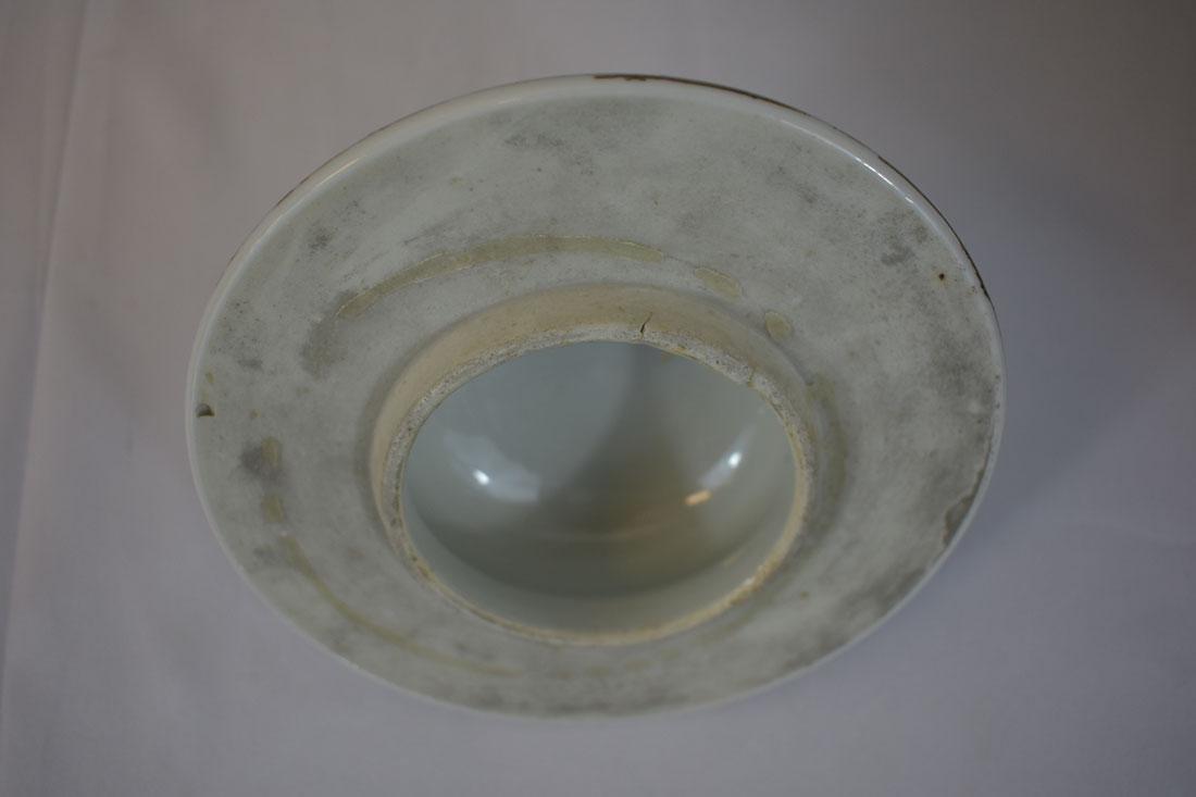 Antique Chinese Monochrome Gilt Jar Power Blue - 6