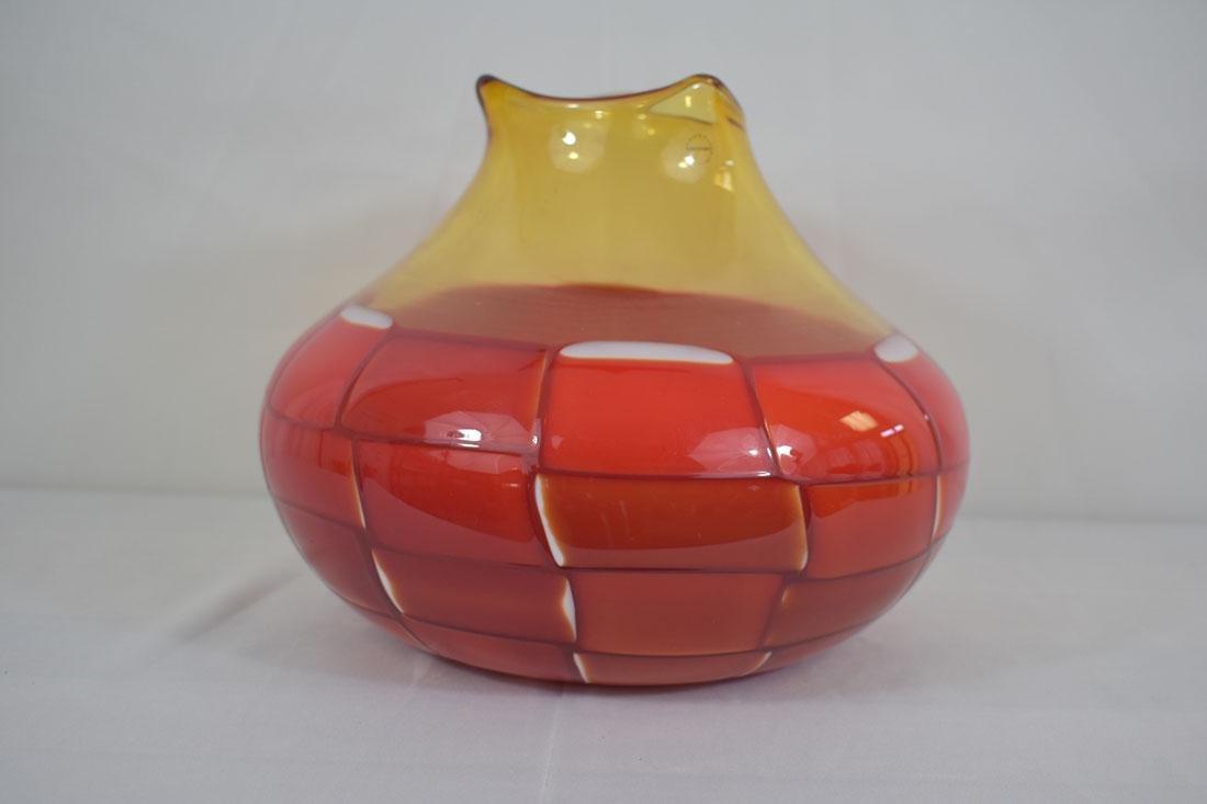 Signed Murano Art Glass  Vase