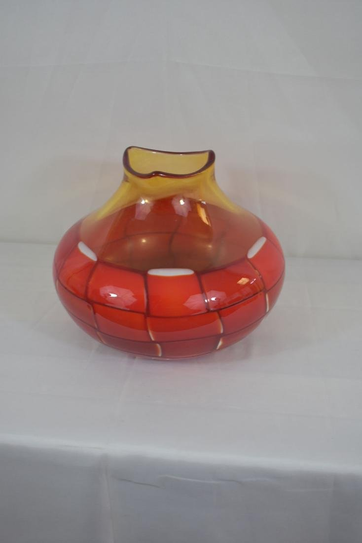 Signed Murano Art Glass  Vase - 6