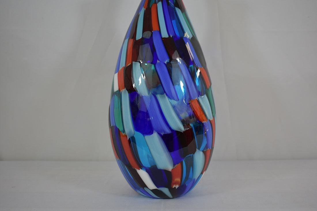 Signed Murano Art Glass Vase - 2