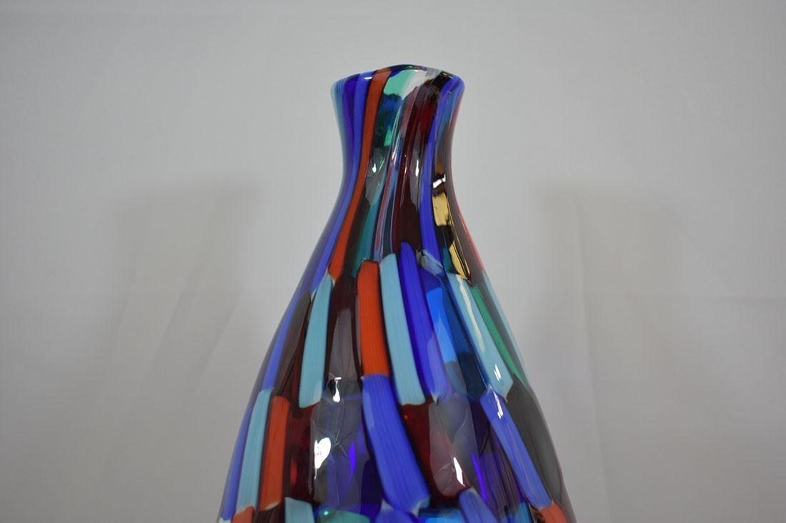 Signed Murano Art Glass Vase - 3
