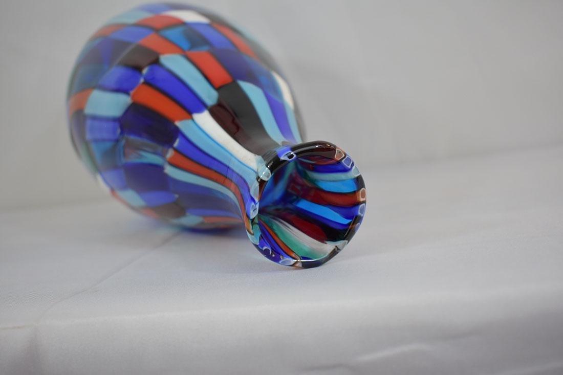 Signed Murano Art Glass Vase - 5