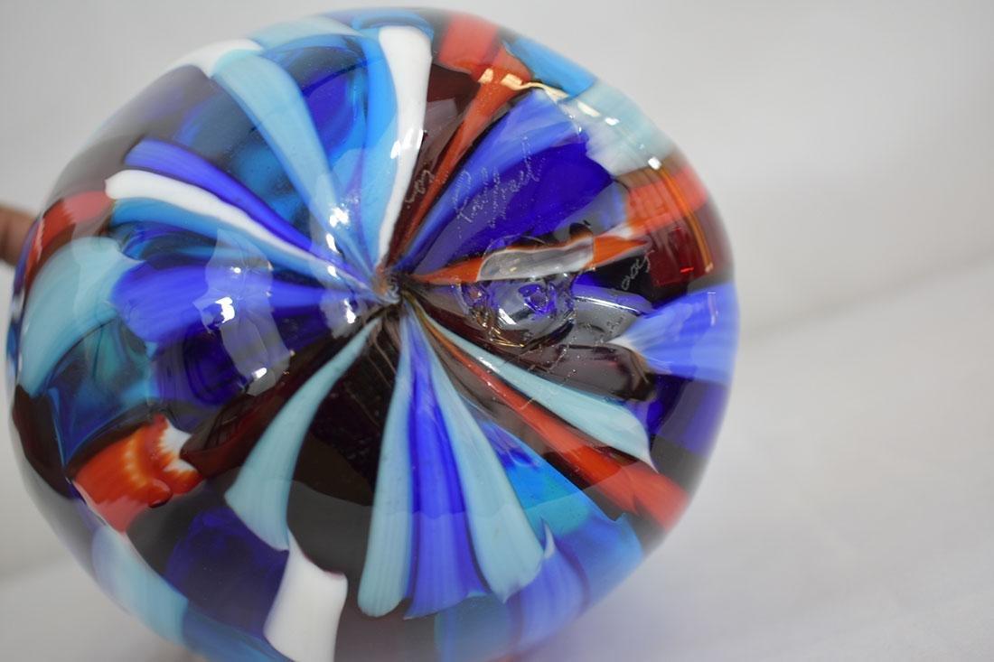 Signed Murano Art Glass Vase - 7