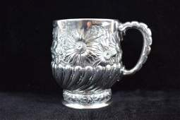 A Rare Tiffany  Co Sterling Baptism Cup Chrysanthemum
