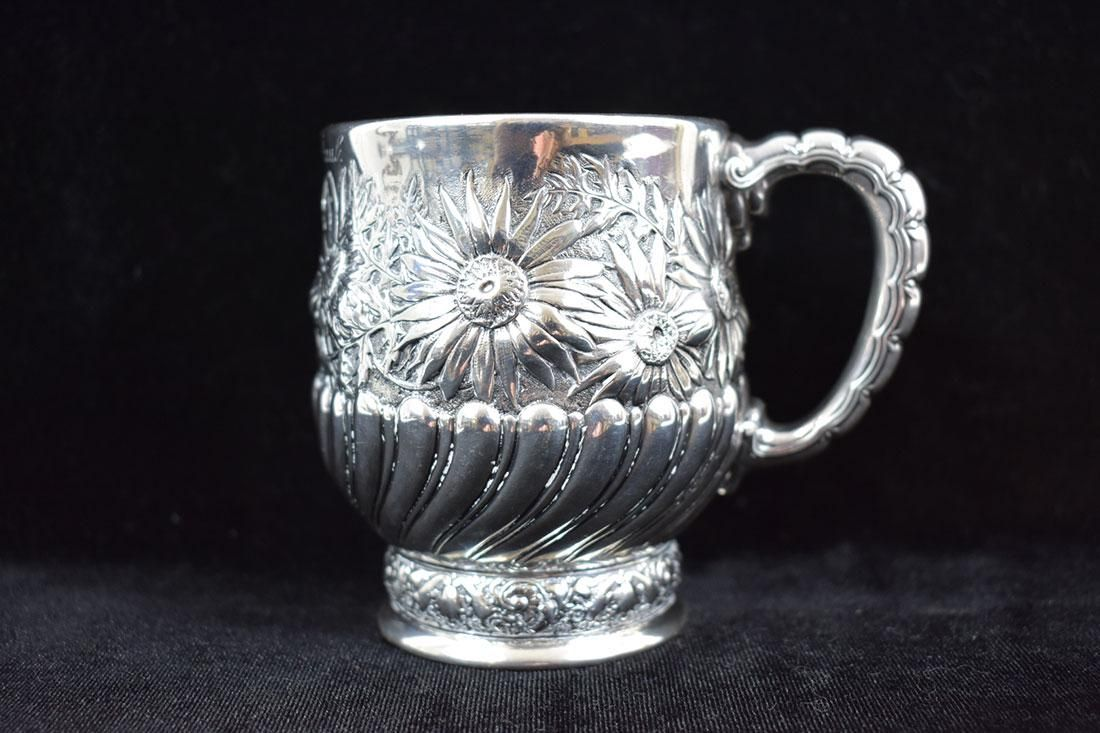 A Rare Tiffany & Co. Sterling Baptism Cup Chrysanthemum