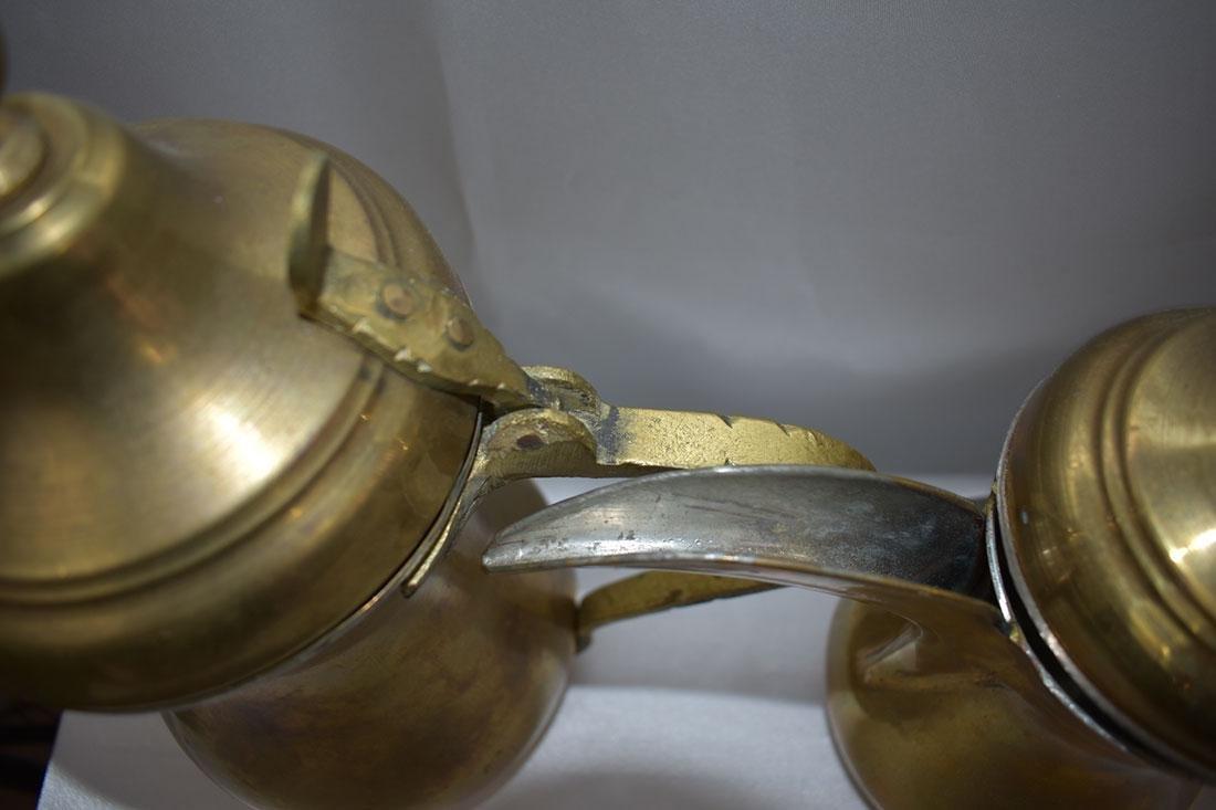 Set 5 Dallah Brass Teapots - 5