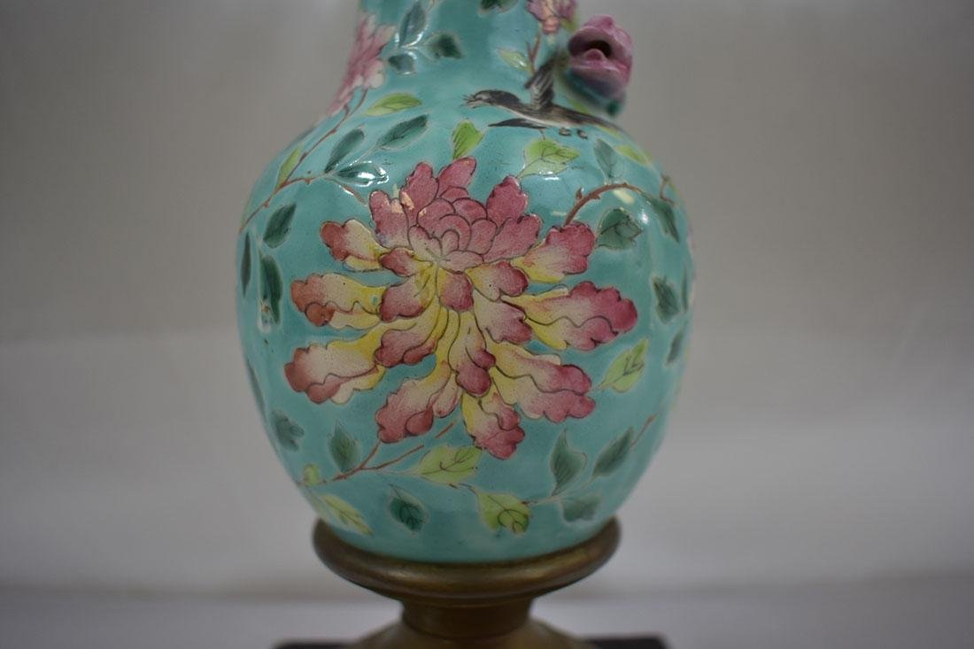 Antique Chinese Porcelain Vase Lamp - 2