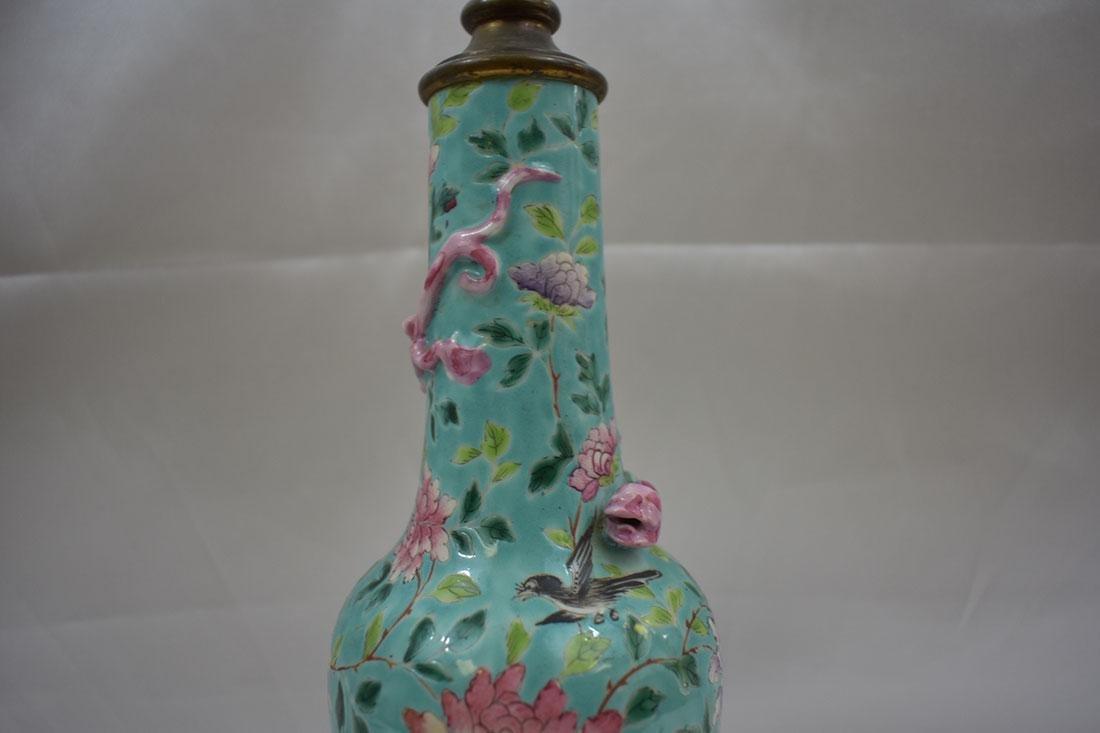 Antique Chinese Porcelain Vase Lamp - 3