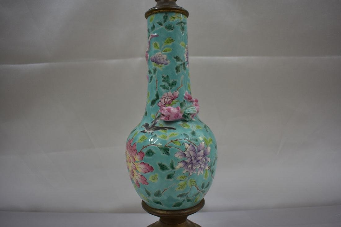Antique Chinese Porcelain Vase Lamp - 4