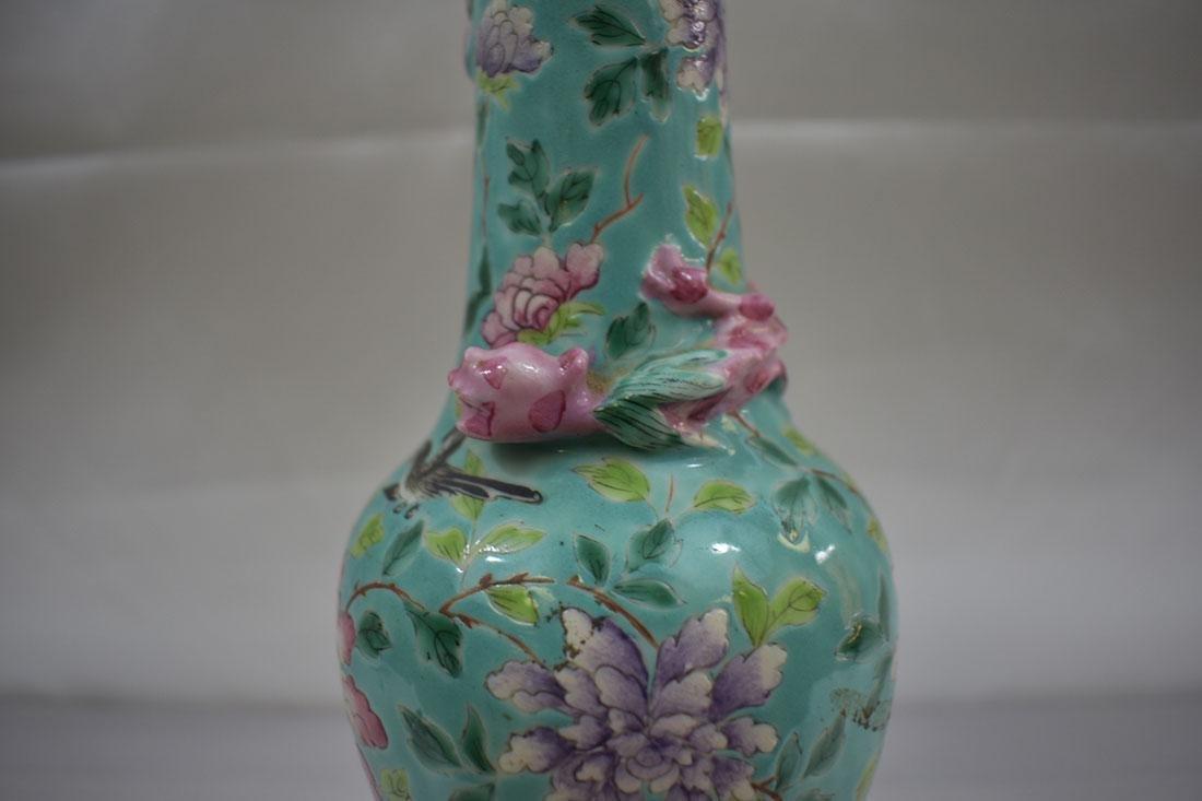 Antique Chinese Porcelain Vase Lamp - 9