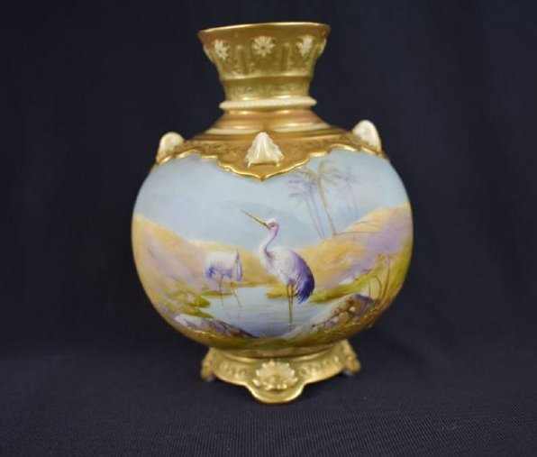 Antique Royal Worcester Vase signed Walter Powell