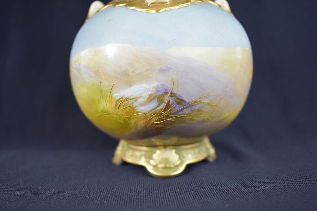 Antique Royal Worcester Vase signed Walter Powell - 7