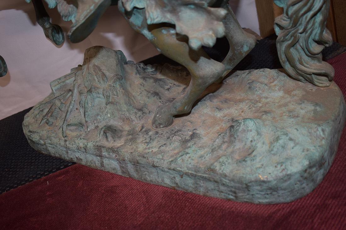 Antique Bronze Roman Warrior on Horse Sculpture 19C - 8