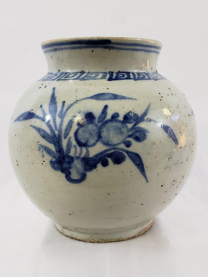 Antique Korean Jar Blue & White Jar