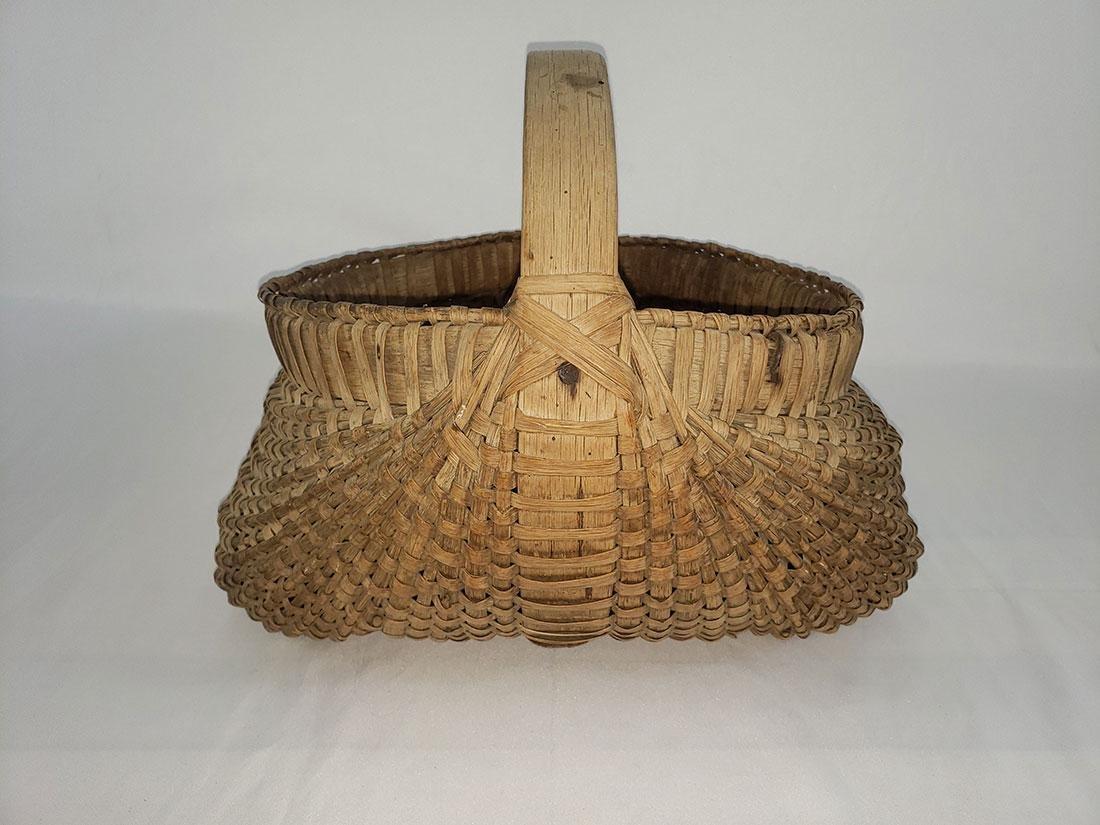 Antique Shelton Sisters Butt Basket 19th C