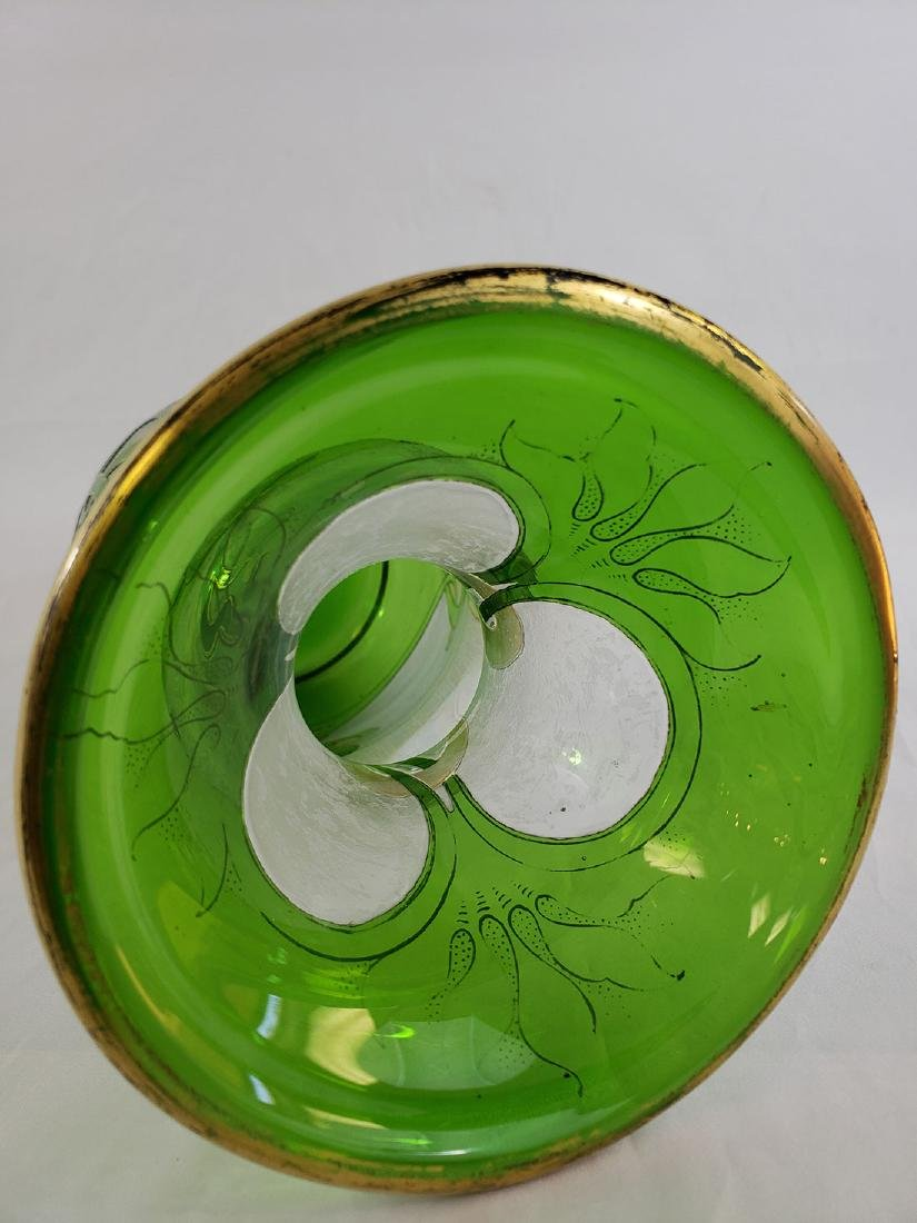 A Fine Antique  Signed Honesdale Cameo Cut Glass Vase - 9