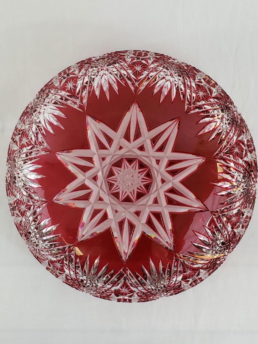 A Fine Antique Cut To Clear Cut Glass Cranberry Bowl - 10